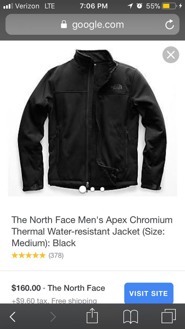 NWOT North Face Apex thermal Chromium Water-Resistant Men's Size Medium 10/10 zero flaws