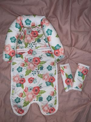 Floral car seat head support and straps for Sale in Avondale, AZ