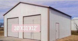 New 30' x 31' x 12' Vertical Steel Building Garage for Sale in E BRIDGEWTR, MA