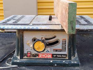 10 inch table saw- Ryobi for Sale in Tamarac, FL