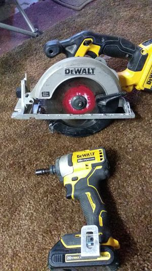 DeWalt saw and impact brushless 20 volt no charger for Sale in Bakersfield, CA