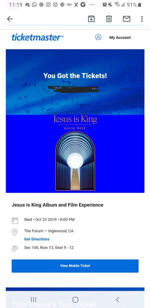 Kanye West Jesus Is King at the Forum Tonight for Sale in Los Angeles, CA