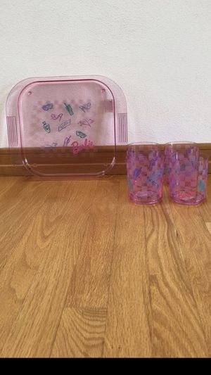 Barbie beach tray with 4 plastic tumblers - New for Sale in Appleton, WI