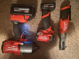 1/2 Impact wrench and ratche 3/8 stubby for Sale in North Richland Hills, TX