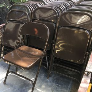 Virco Triple braced folding chairs in new condition $14 each for Sale in Mulberry, FL