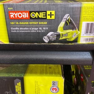 18V Ryobi 18ga OffSet Shear (tool only) Asking $50 for Sale in La Habra, CA