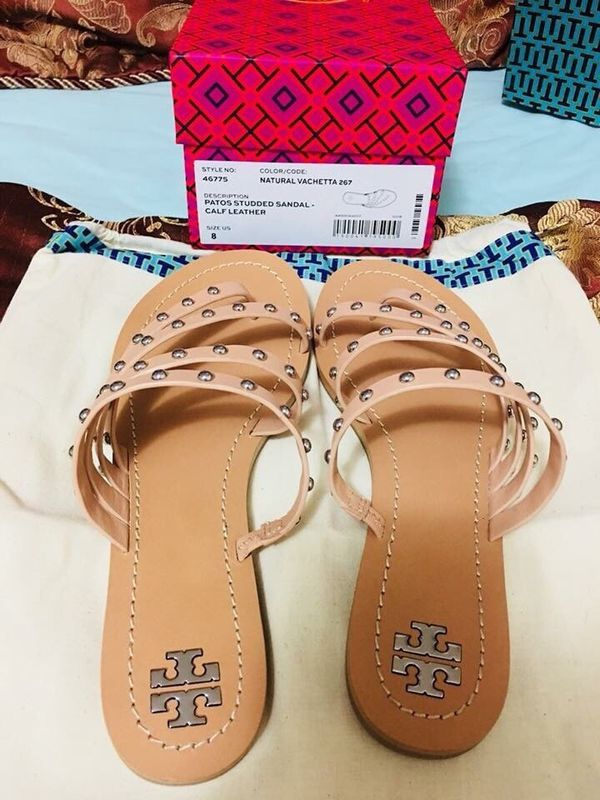 28597daa307 Tory Burch Patos Studded Sandal - Calf Leather for Sale in Clarkston ...