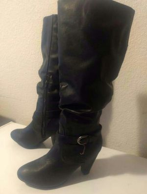 Women's Black Boots Size 9/Botas de Mujer Talla 9 for Sale in Madera, CA