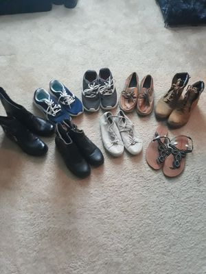 Women's boots, shoes, and a pair of sandals for Sale in Frisco, TX