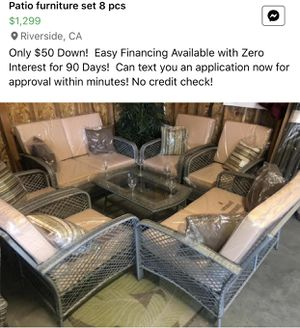 Brand new wicker patio set for Sale in Norco, CA