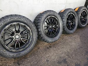 "20"" Fuel Rebel Wheels rims and 33"" Rdr MT tires 33s for Sale in Orange, CA"