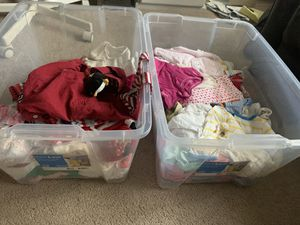 2 bins of clothes baby girl take all for Sale in Concord, CA
