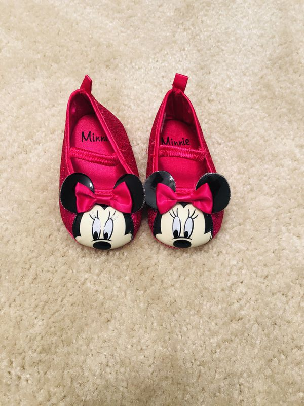 Minnie Mouse Disney shoes for 6-12 mos.