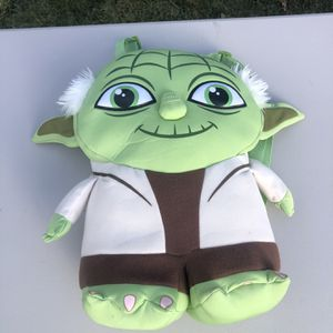 """Brand New Star Wars Yoda Backpack Plush 18"""" Lucas Films Jedi Master Comic Images Disney for Sale in Attleboro, MA"""