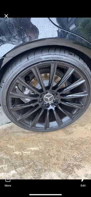 """Mercedes new 19"""" amg style new rims tires set for Sale in Hayward, CA"""