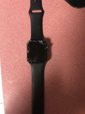 Broken (screen cracked)Series 2 Apple Watch black band for Sale in Glen Burnie, MD