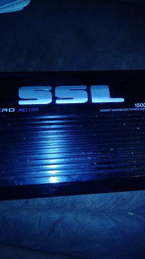Mosfet monnblock power Amplifier 1500 watts for Sale in Richmond, VA