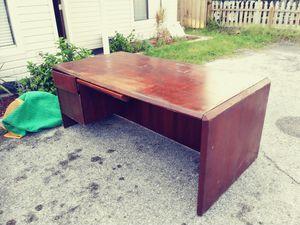 Big Cherrywood desk free for Sale in Dunedin, FL