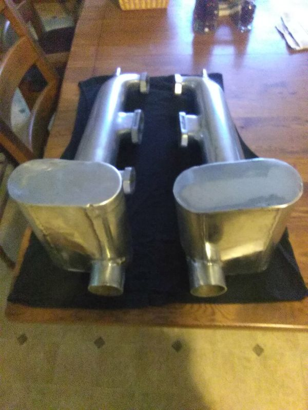 Glenwood custom SBC Marine exhaust/ waterlogs