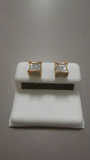 Cube Cz Diamond Silver Earrings for Sale in Columbus, OH