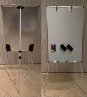 New VivReal 24x36 inch tall magnetic dry erase white board easel with adjustable tripod 5 feet overall height include pens magnets and eraser home st for Sale in West Covina, CA