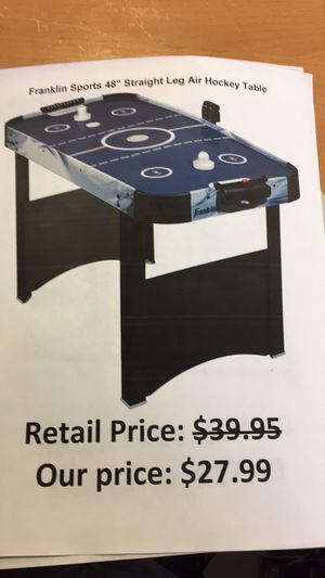 "Franklin sports 48"" straight leg air hockey table for Sale in San Lorenzo, CA"