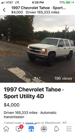 1997 Chevy Tahoe for Sale in Belton, SC