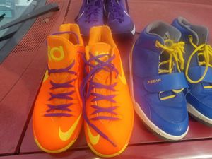 Air force 1 30th anniversary size 11, kd v 5 size 12, Jordan v iv iii size 11, and Nike hyperquickness size 10 for Sale in Lilburn, GA