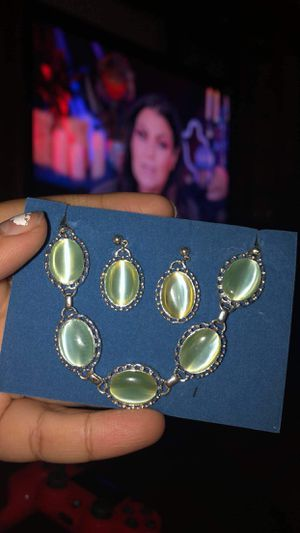 Silver Earring and braclet set for Sale in Salt Lake City, UT