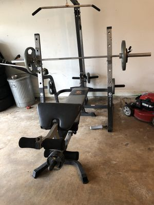 Bench press full gym set for Sale in Houston, TX