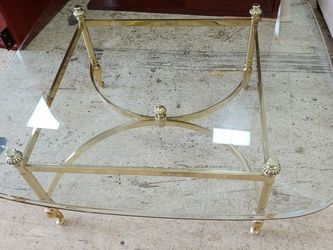 Glass Coffee Table With Gold Base for Sale in Lorton,  VA