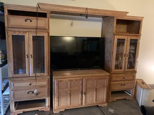 Wood Shelf TV Stand (Classic All Wood) for Sale in Las Vegas, NV