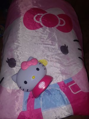 Hello kitty night light and sleeping bag for Sale in Bensalem, PA