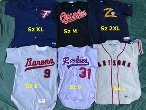 Baseball jerseys Russell Wilson majestic equipment bats gloves for Sale in Los Angeles, CA