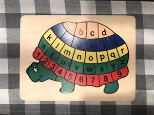 Children's Turtle alphabet/number puzzle for Sale in Cypress, TX