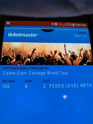 Celine Dion concert tickets (2) for Sale in McKnight, PA