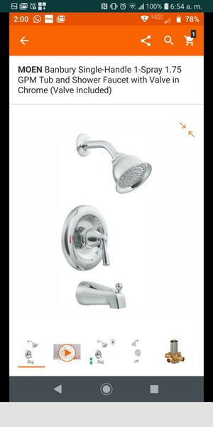 Shower set and tub ,,with VALVE...PRICE FOR EACH for Sale in Grand Prairie, TX