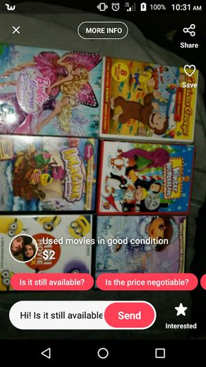 Used kids DVDs good condition for Sale in Owensville, MO