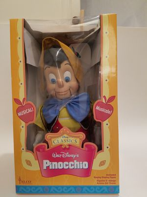 Telco PINOCCHIO Walt Disney Animated Singing Christmas Display Figure Puppet BOX for Sale in San Diego, CA