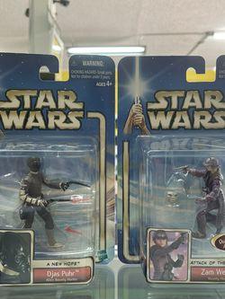 Star Wars Saga A New Hope Djas Puhr Alien Bounty Hunter & Zam Wesell figure lot for Sale in Waco,  TX