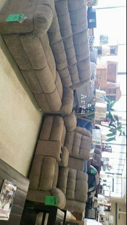 💲39 Down Payment🆕️ SPECIAL] Workhorse Cocoa Reclining Living Room Set byAshley for Sale in Alexandria,  VA