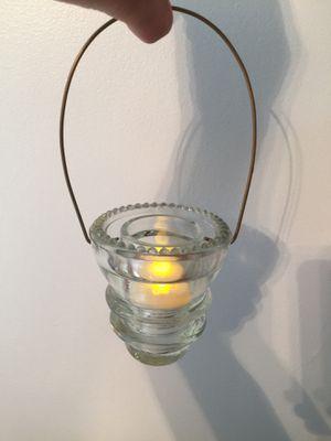 Hand made glass insulator light or small plant holder for Sale in Grantsville, WV