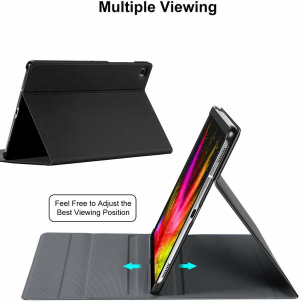 Galaxy Tab S5e Case with Keyboard 2019 - T720 T725, PU Leather Flip Stand Case