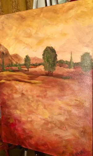 Beautiful wall art oil on canvas by Maynard; Unframed; H24xW18 inch for Sale in Chandler, AZ