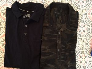 Camo button and black collar shirt for Sale in Henderson, NV