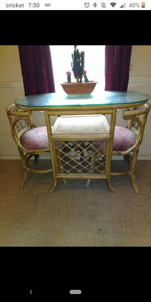 1960's Ratten and Glass Top for Sale in Wichita, KS