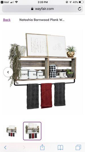 36 inch Natashia Barnwood Plank Wall Shelf for Sale in San Diego, CA