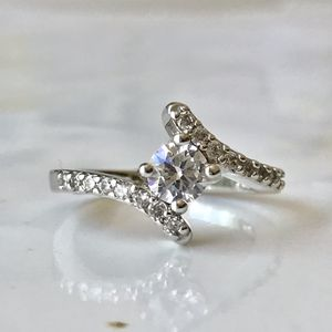 Sterling silver plated CZ ring women's jewelry accessory fashion for Sale in Silver Spring, MD