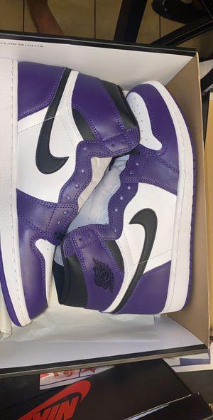 Jordan 1 Court Purples for Sale in Fresno, CA
