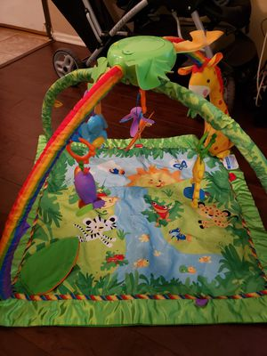 Fisher Price play gym mat Rainforest with music. $18 OBO for Sale in Los Angeles, CA